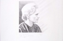 Marie Skłodowska Curie cm35x50